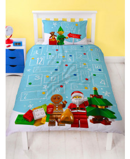 Lego Minifigures HoHoHo Single Christmas Duvet Cover Set