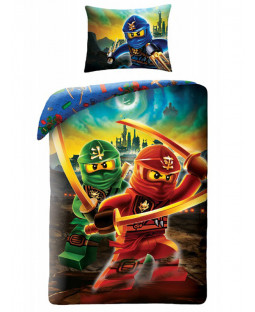 Lego Ninjago Swords Single Cotton Duvet Cover Set