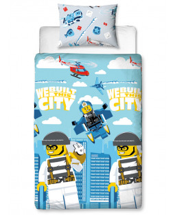 Lego City On The Run Single Duvet Cover Set - Rotary Design