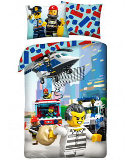 Lego City Rescue Crew Single Duvet Cover Set - European Size