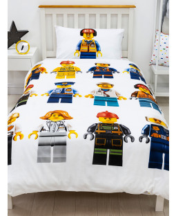 Lego City Hello Single Duvet Cover and Pillowcase Set