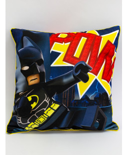Lego Superheroes Challenge Square Cushion