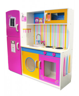 Leomark Big Wooden Kitchen with Fridge