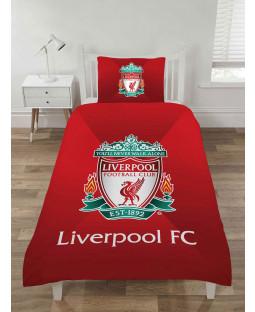 Liverpool FC Gradient Design Single Duvet Cover and Pillowcase Set