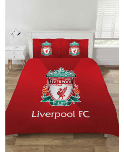 Liverpool FC Gradient Design Double Duvet Cover and Pillowcase Set