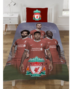 Liverpool FC Players Single Duvet Cover and Pillowcase Set
