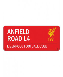 Liverpool FC 'Anfield Road' Street Sign - Red