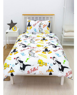 Looney Tunes Gang Rotary Single Duvet Cover and Pillowcase Set