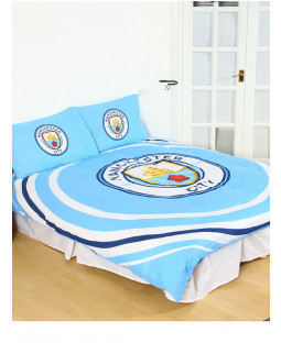 Manchester City FC Pulse Reversible Double Duvet Cover Set
