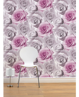 Madison Rose Floral Wallpaper - Pink - 119505
