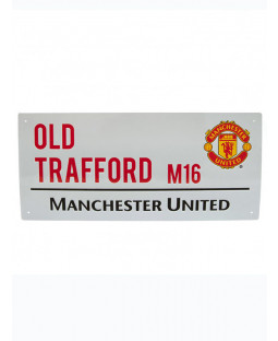 Hombre United Football Club Old Trafford Street Sign