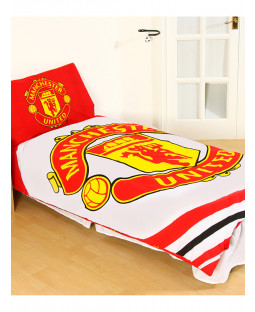 Manchester United FC Pulse Single Duvet Cover and Pillowcase Set