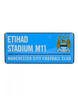 Manchester City FC Etihad Stadium Street Sign - Blue