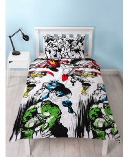 Marvel Comics Crop Single Duvet Cover Bedding Set