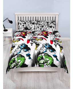 Marvel Comics Crop Double Duvet Cover Bedding Set