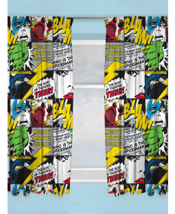"Marvel Comics Scribble Curtains 72"" Drop"