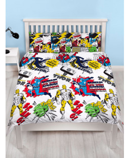 Marvel Comics Scribble Double Duvet Cover and Pillowcase Set