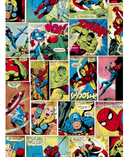 Marvel Comic Strip Wallpaper Multi Muriva 159501
