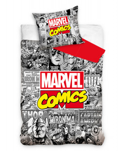 Marvel Comics 100% Cotton Single Duvet Set - European Size