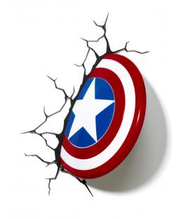 Lámpara de pared LED Marvel Capitán América Shield 3D