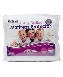 Dreameasy Quilted Polycotton Mattress Protector - King Size, White