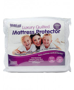 Dreameasy Quilted Polycotton Mattress Protector - Super King, White
