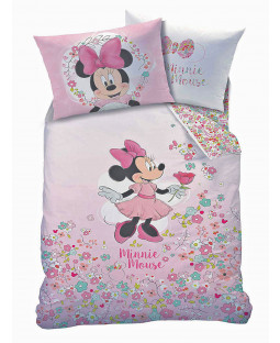 Housse de couette et taie d'oreiller Minnie Mouse Bloom Single