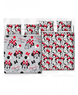 Minnie Mouse Cute Double Duvet Cover and Pillowcase Set