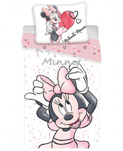 Minnie Mouse White Single Duvet Cover and Pillowcase Set