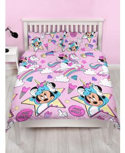 Minnie Mouse Unicorns Double Duvet Cover and Pillowcase Set