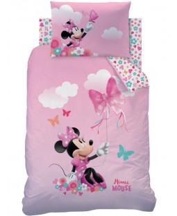 Ensemble de literie junior 4 en 1 de Minnie Mouse Papillon (couette, oreiller et housses)