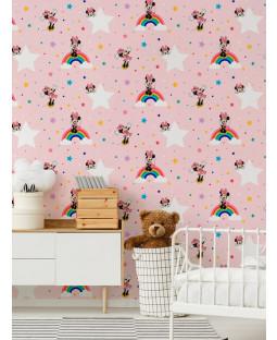 Disney Minnie Mouse Rainbow Wallpaper Pink Graham & Brown 108592