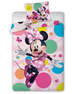 Ensemble de housse de couette simple Minnie Mouse Dotty - Taille européenne