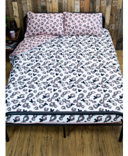 Minnie Mouse Leopard Coverless Double 10.5 Tog Quilt and Pillowcase Set