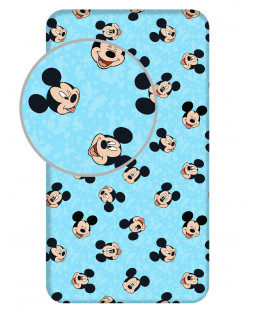 Mickey Mouse Blue Single Fitted Sheet