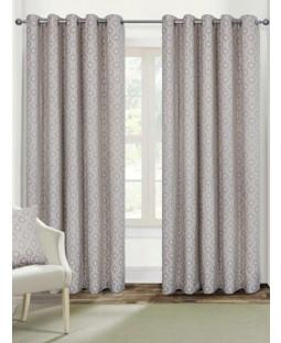 Belle Maison Lined Eyelet Curtains - Milano Range, Natural