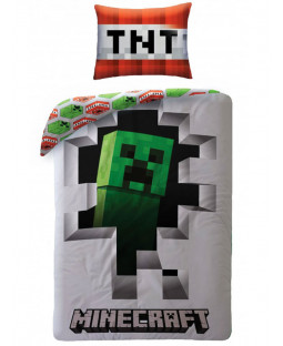 Minecraft Creeper Wall Single Duvet Cover Set - European Size