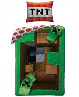 Minecraft Creeper Levels Single Duvet Cover Set - European Size