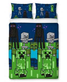 Set copripiumino doppio Minecraft Creeps - Design rotante