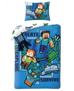 Minecraft Create Single Cotton Duvet Cover Set - European Size