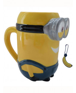 Minions Kevin 3D Mug with Banana Scented Charm