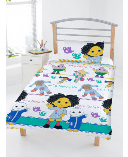 Moon And Me Tea Time 4 in 1 Junior Bedding Bundle Set (Duvet, Pillow and Covers)
