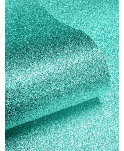 Muriva Teal Sparkle Glitter Effect Wallpaper - 701355