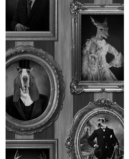 Muriva Dogs in Frames Wallpaper - J59309