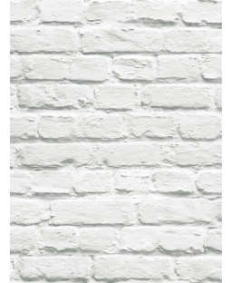 Sfondo di Muriva Painted White Brick - 102539