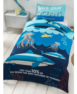 National Geographic Ocean Life Single Duvet Cover Set