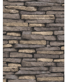 Natural Slate Stone Effect Wallpaper - Fine Decor