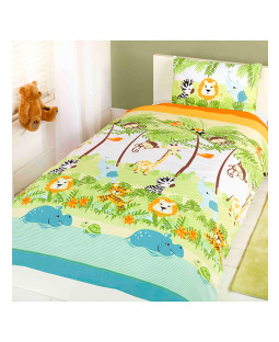 Jungle Boogie 4 in 1 Junior Bedding Bundle - Duvet, Pillow and Covers
