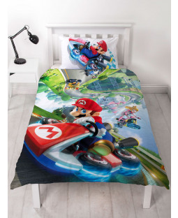 Nintendo Super Mario Gravity Single Duvet Cover Bedding Set