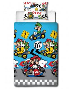 Juego de funda nórdica individual Nintendo Mario Direction